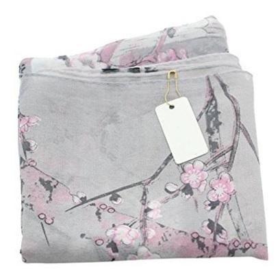 Sciarpe elegante chiffon stampa floreale