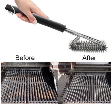 Spazzola in acciaio inox per pulire griglie e forno