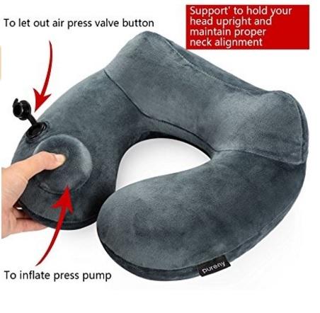 Cuscino gonfiabile per il collo da viaggio