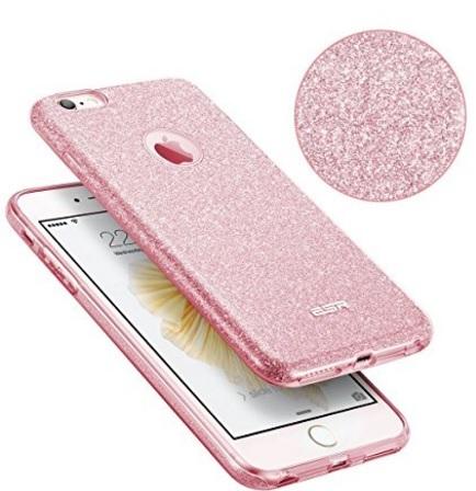 Custodia iphone brillantini silicone