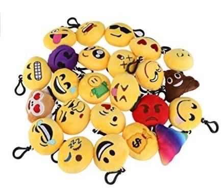 Portachiavi smile whatsapp peluche decorativi