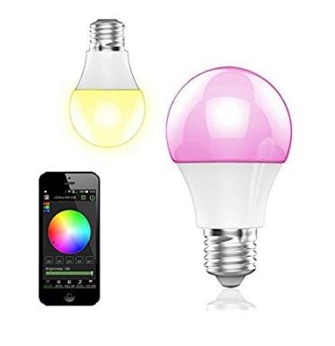 Lampadine led con controllo da smartphone app bluetooth