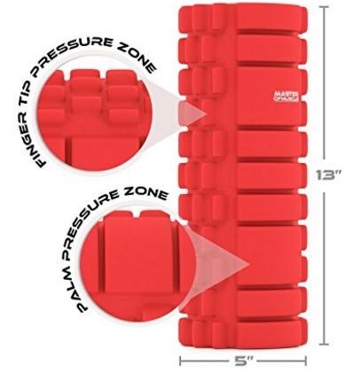 Foam roller per automassaggio miofasciale