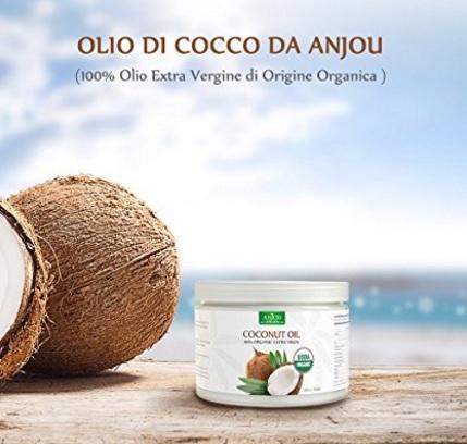 Olio di cocco alimentare o per uso di bellezza