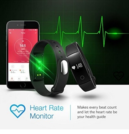 Braccialetto smart tracker fitness compatibile