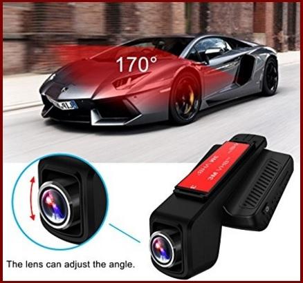 Telecamera per auto con lente da 170 gradi e notturna