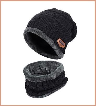 Cappellino e scaldacollo imbottiti