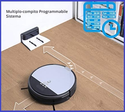 Robot aspirapolvere schermo lcd