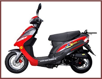 Scooter roller sport rosso gmx 450