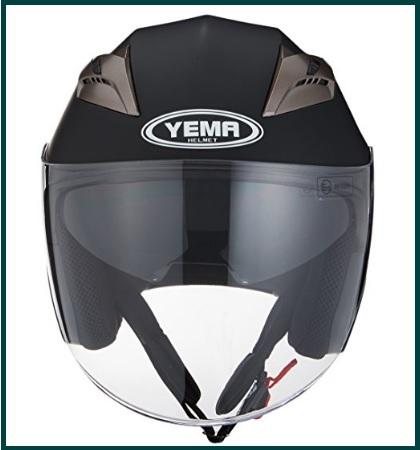 Casco per moto, doppia visiera sicuro