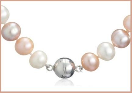 Collana di perle colorate di valero pearls in offerta