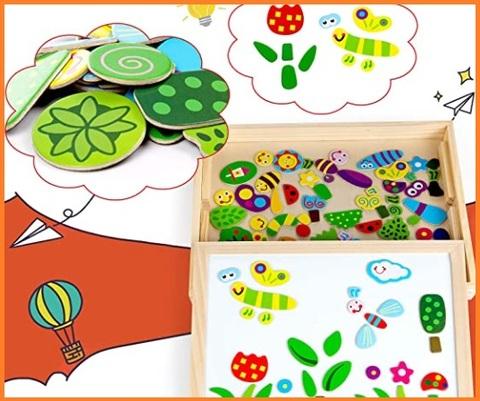 Puzzle in legno e magnetico educativo per bambini