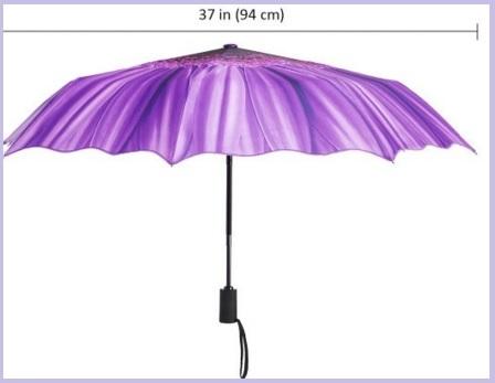 Ombrellino portatile da viaggio viola