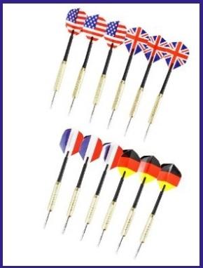 Freccette con bandiere nazionali