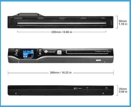 Scanner portatile con display tft