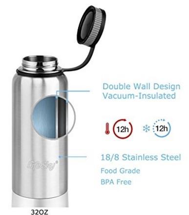Bottiglia borraccia in acciaio doppia parete