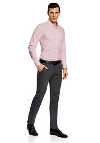 Camicia uomo basic con maniche lunghe oodji