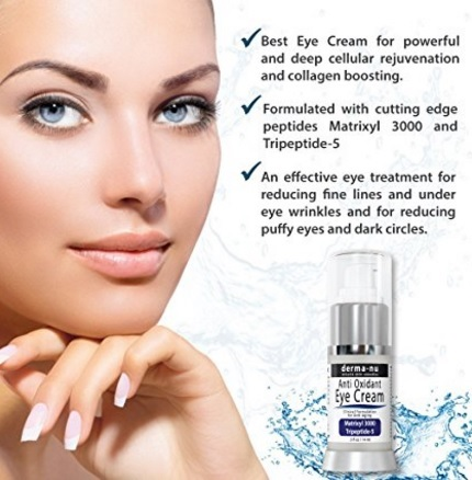 Crema antiage per gli occhi e le rughe derma nu
