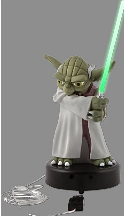 Yoda famoso star wars multicolore in plastica