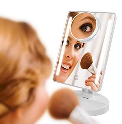 Specchio led make up touch screen