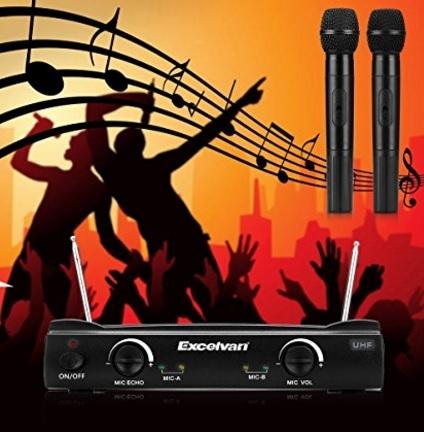 Microfoni e ricevitore wireless per karaoke