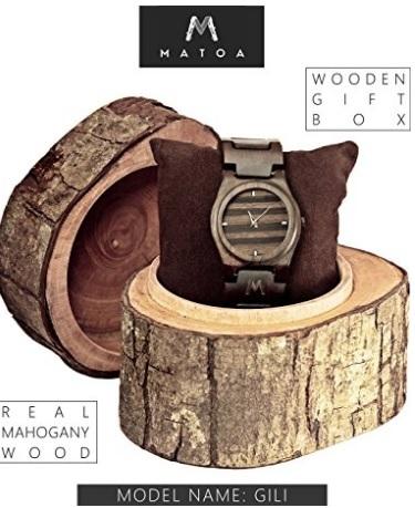 Orologio artigianale in legno d'ebano