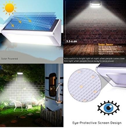 Qiteco luce esterna in lega di alluminio impermeabile