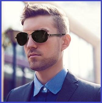 Occhiali da sole polarizzati stile aviator