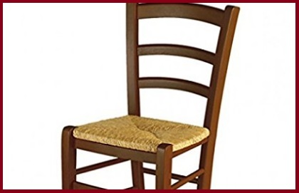Sedia impagliata legno marrone