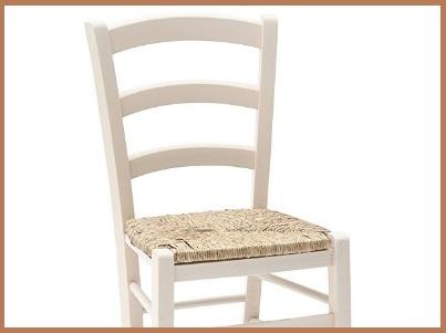 Sedia impagliata legno bianco