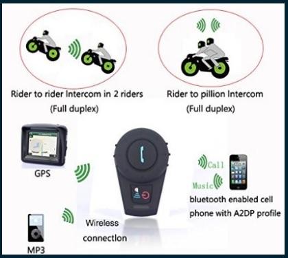 Cuffie Moderne Bluetooth Per La Moto Con Interfono