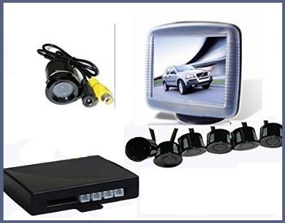 Sensori di parcheggio con display e sensori acustici