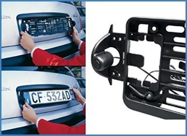 Sensori di parcheggio posteriore targa