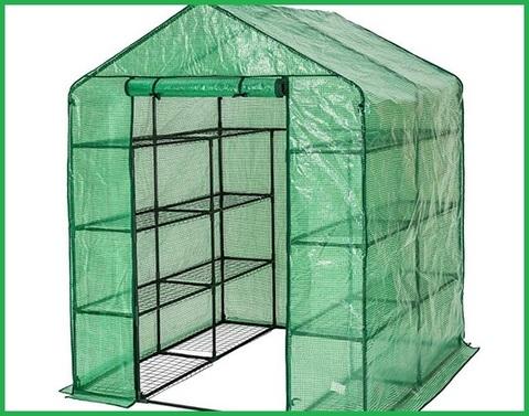 TecTake Serra da giardino in acciaio e PVC per piante modelli differenti 143x143x195cm | No. 401860