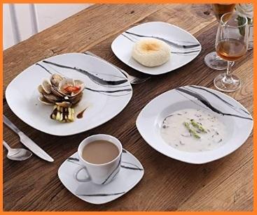 Servizi piatti eleganti porcellane