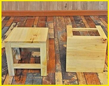 Sgabello in legno per bambini
