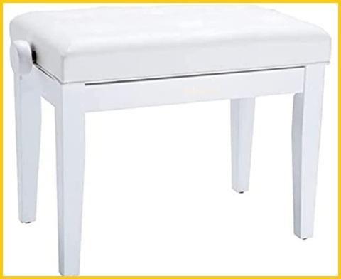 Sgabello pianoforte bianco