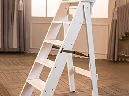 Scaletta In Legno Pieghevole : Sgabello scaletta pieghevole bianco grandi sconti sgabello