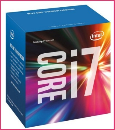 Processore intel box argento i7-6700