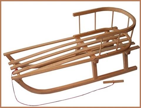 Slitta in legno per bambini