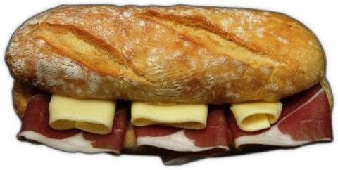 Panini prosciutto e formaggio