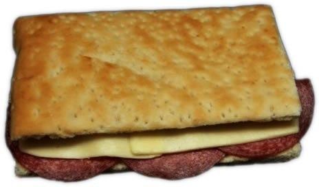 Focaccia con cotto e formaggio