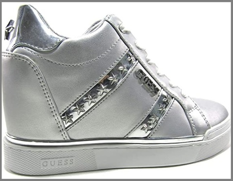 Scarpe Sneakers Guess Argento