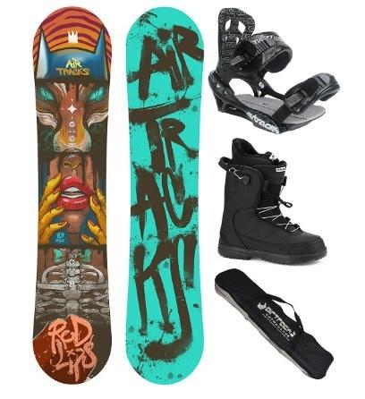 Tavola da snowboard con scarponi per uomo