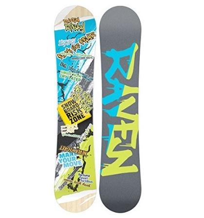 Tavola da snowboard con stampe colorate