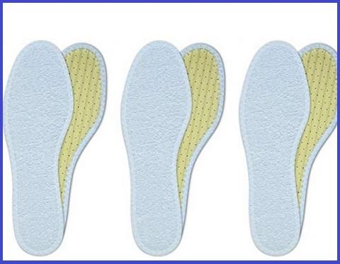 Solette scarpe calde azzurre