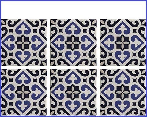 Sottobicchieri Ceramica Quadrati
