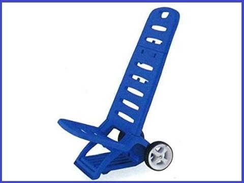 Spiaggina con ruote trolley blu