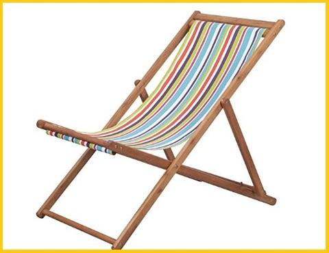 Sedia spiaggia legno pieghevole