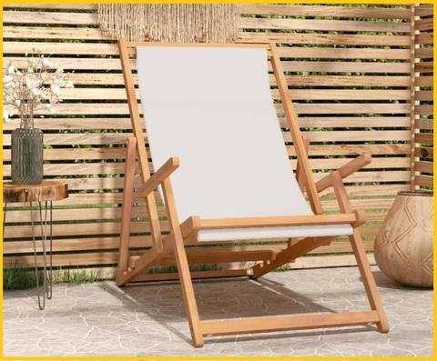 Sedia sdraio spiaggia legno